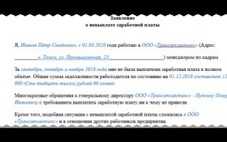 Невыплата заработной платы: жалоба в прокуратуру и заявление в следственный комитет